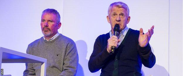 Brian McClair and Gordon Strachan