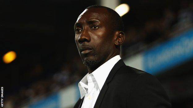 QPR manager Jimmy Floyd Hasselbaink