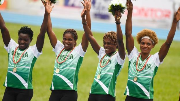 Nigeria's women's 4x400m team
