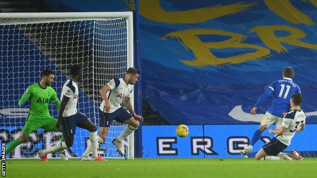 Trossard nets Brighton's opener