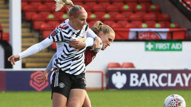 Jackie Groenen's concussion injury came in the 11th minute in Walsall