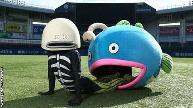 Chiba Lotte Marines' fish mascot