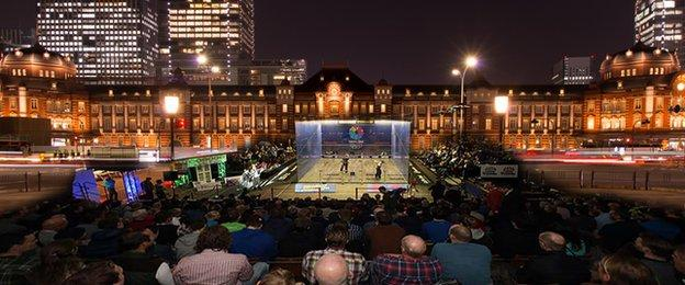 Squash chiefs say show courts an be erected outside