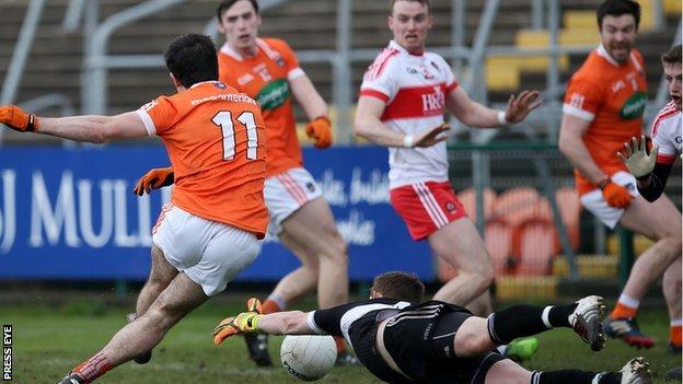 Armagh beat Derry but were relegated from Division Two