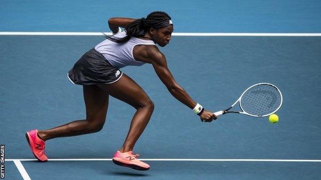 Coco Gauff backhand at Australian Open