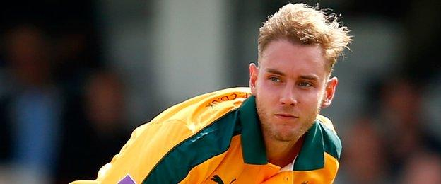 Stuart Broad made his first List A appearance for Nottinghamshire in almost two years