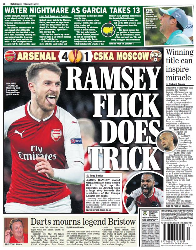 Daily Express back page on Friday