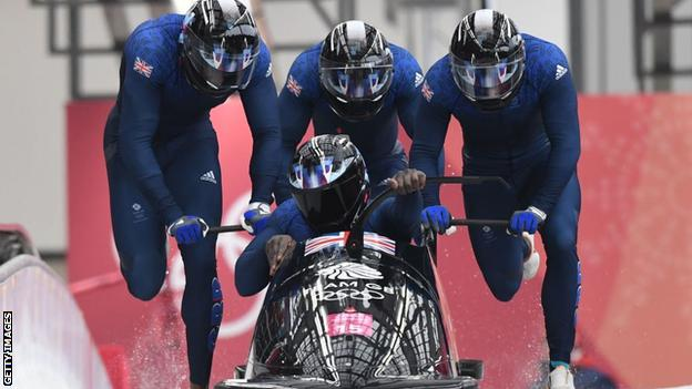 GB four-man bobsleigh at Pyeongchang 2018