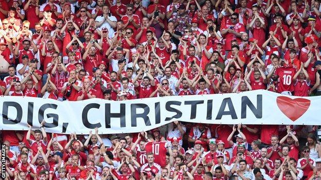 Fans applauded Eriksen