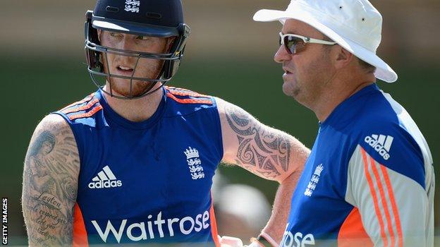 Ben Stokes and England assistant coach Paul Farbrace