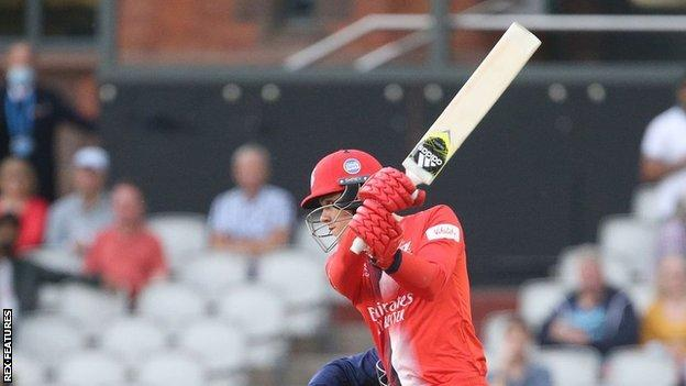 New Zealander hits Finn Allen 66 to help Lancashire comfortably defeat the Northants in Manchester