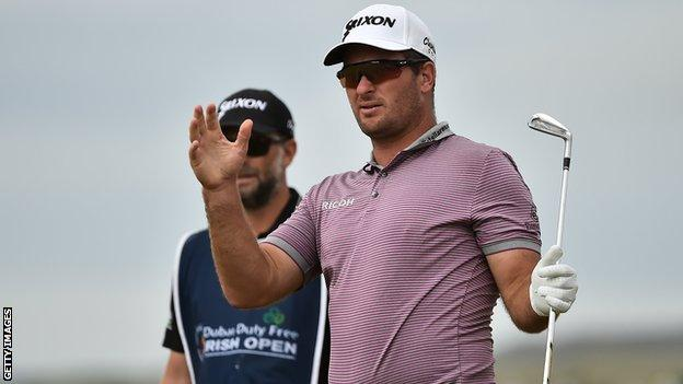New Zealander Ryan Fox moved two clear with birdies at the 12th and 13th