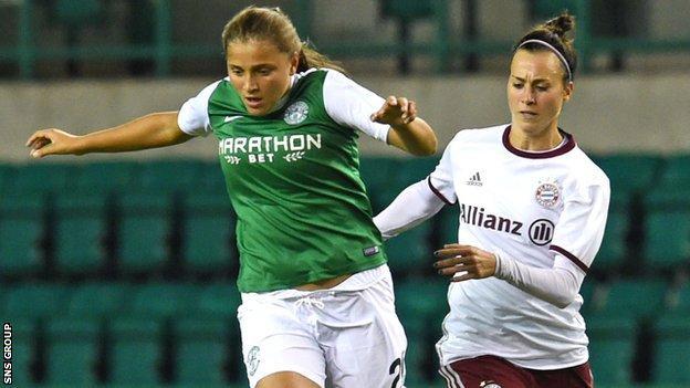 Abigail Harrison scored for Hibs in Germany