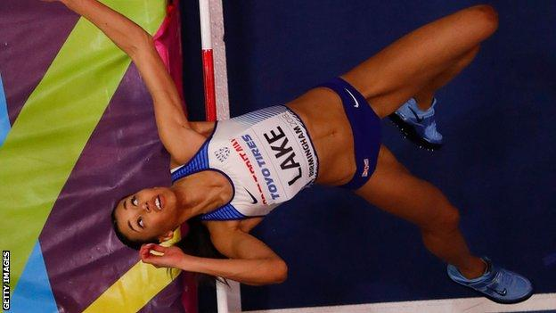 Morgan Lake set a season's best mark of 1.93m but narrowly missed out on a medal