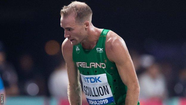 Like many Stephen Scullion suffered in the heat in Doha