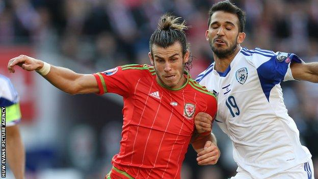 Gareth Bale in action against Israel