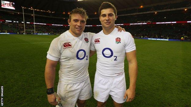 Tom and Ben Youngs in England kit