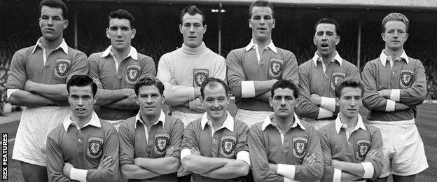 The Wales team that beat England in 1956