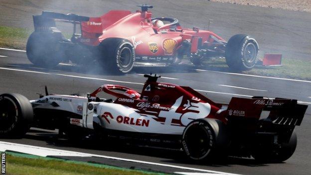 Vettel spins