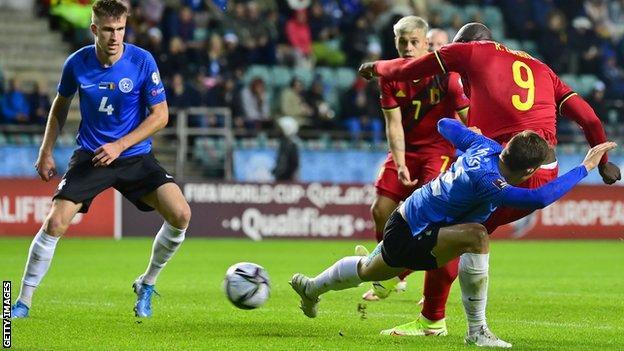 Estonia 2-5 Belgium: Romelu Lukaku scores twice in comeback win - BBC Sport