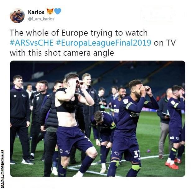 Viewers weren't impressed with the camera angle during the Europa League final