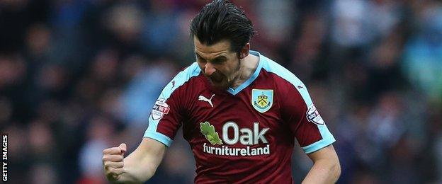 Barton scored three goals in 40 games for Burnley this season