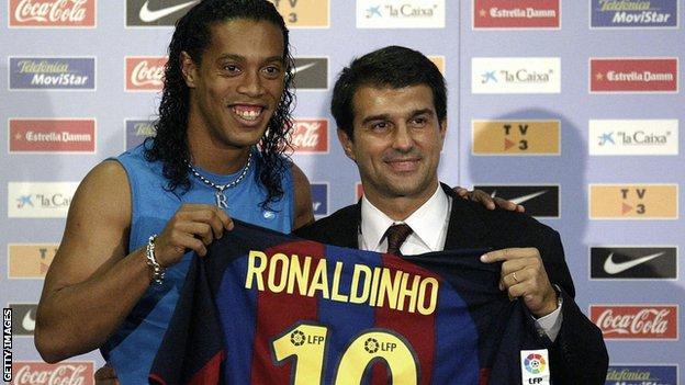 Joan Laporta & Ronaldinho
