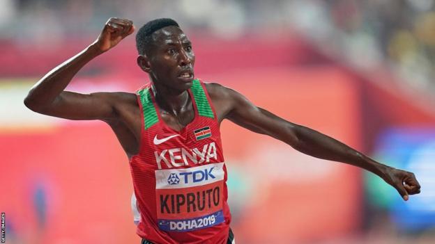 Kenyan athlete Conseslus Kipruto