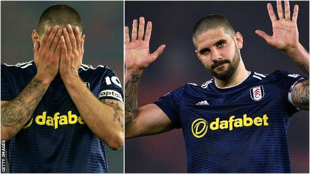 Mitrovic showed sorrow to Fulham's fans after the defeat