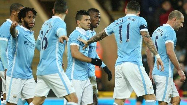 Manchester City seemed to care. They made seven changes, but Sergio Aguero started and scored a wonderful goal to set them on their way to a 3-0 victory over Norwich