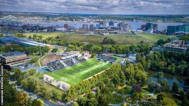 HFX Wanderers' stadium is in Halifax, Nova Scotia