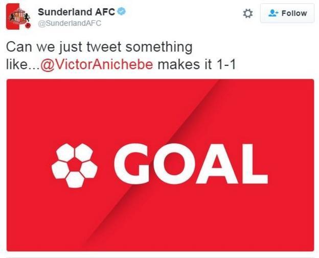 Sunderland Anichebe tweet