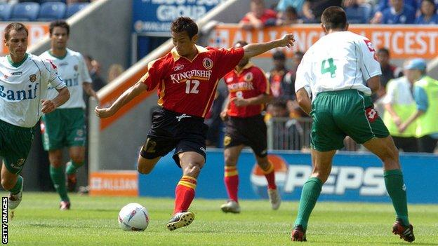 Bhaichung Bhutia in action for East Bengal