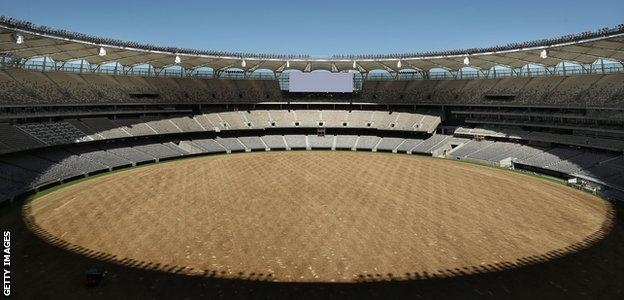 Perth Stadium will be ready to host a one-day international between Australia and England on 28 January