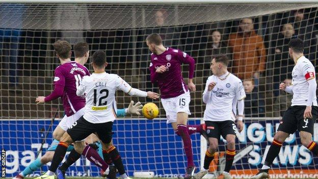 Wighton scores on his Arbroath debut after signing on loan from Hearts