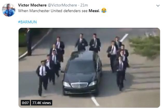 Victor Mochere tweet on Lionel Messi