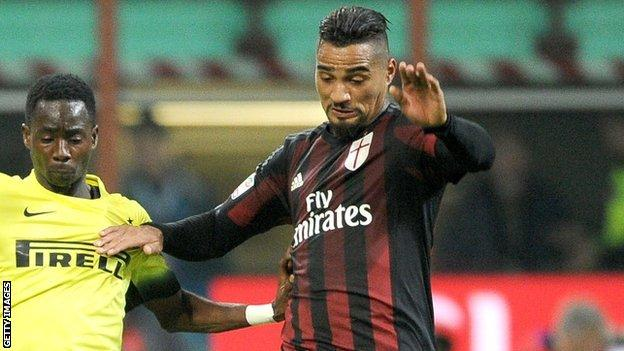Kevin-Prince Boateng (right)