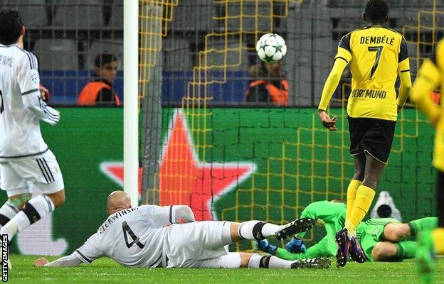 Ousmane Dembele scores for Dortmund