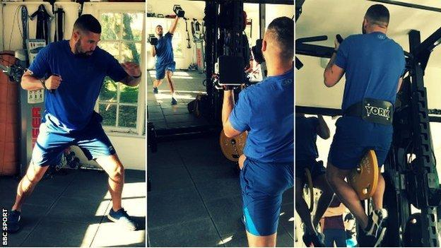 Bellew is back in training and went through a strength and conditioning workout with BBC Sport