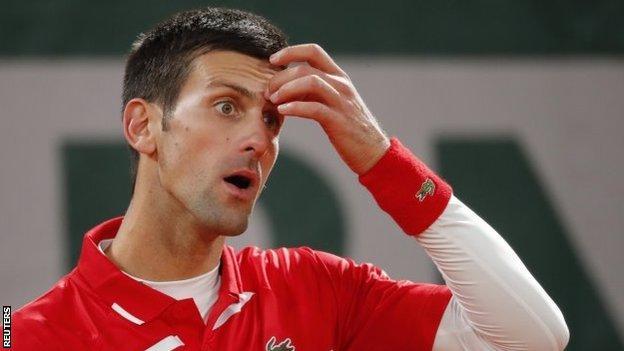Novak Djokovic looked shocked at Rafael Nadal's level
