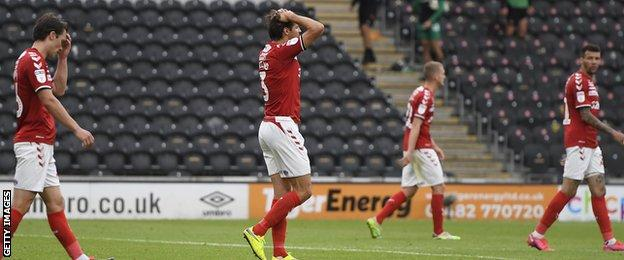Middlesbrough players dejected