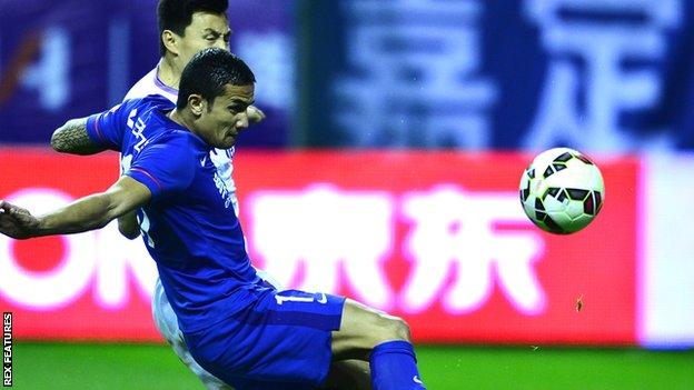 Tim Cahill scored 11 times in 28 appearances for Shanghai Shenhua