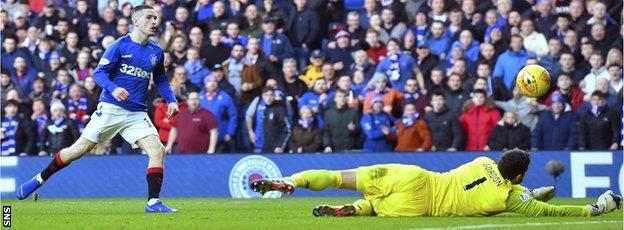 Rangers were denied by a string of Craig Gordon saves