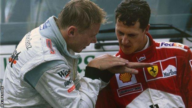 Mika Hakkinen and Michael Schumacher