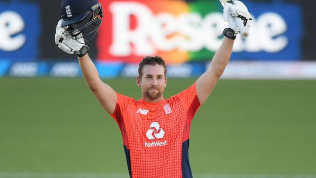 England in New Zealand: Dawid Malan hits century as tourists win fourth T20