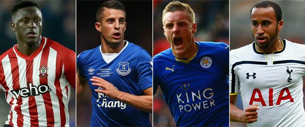 Victor Wanyama, Kevin Mirallas, Jamie Vardy, Andros Townsend