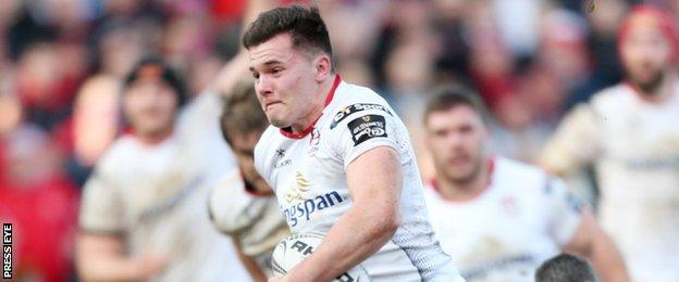Ulster's Jacob Stockdale scored two brilliant tries after coming on as a replacement