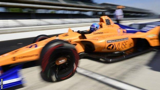 Fernando Alonso at the Indianapolis 500