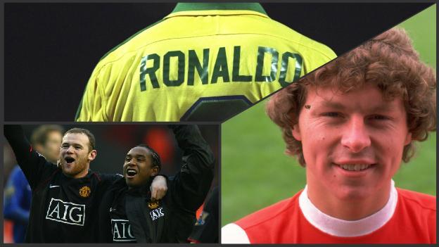 Ronaldo, Wayne Rooney, Anderson and Clive Allen