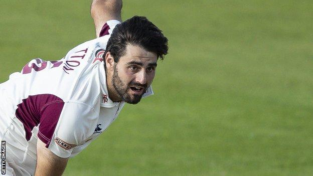Brett Hutton finished the season with 35 first class wickets for Northamptonshire, helping them win promotion from Division Two